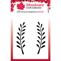 Creative Expressions - Woodware - Clear Acrylic Stamps - Singles - Anya Leaf