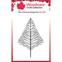 Creative Expressions - Woodware Craft Collection - Christmas - Clear Photopolymer Stamps - Mini Wide Twiggy Tree