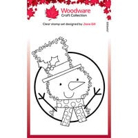 Creative Expressions - Woodware Craft Collection - Christmas - Festive Fuzzies - Clear Photopolymer Stamps - Mini Snowman