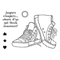 Creative Expressions - Woodware Clear Singles - Clear Photopolymer Stamps - Sneakers