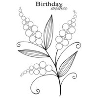 Creative Expressions - Woodware Clear Singles - Clear Photopolymer Stamps - Bubble Bloom Michelle