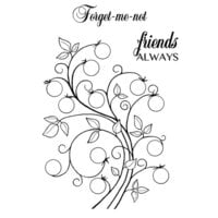 Creative Expressions - Woodware Clear Singles - Clear Photopolymer Stamps - Bubble Bloom Curly Sue
