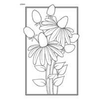 Creative Expressions - Woodware Clear Singles - Clear Photopolymer Stamps - Cone Flower
