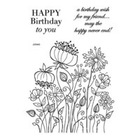 Creative Expressions - Woodware Clear Singles - Clear Photopolymer Stamps - Meadow Flowers