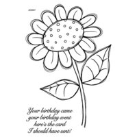Creative Expressions - Woodware Clear Singles - Clear Photopolymer Stamps - Daisy May