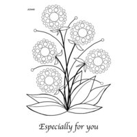 Creative Expressions - Woodware Clear Singles - Clear Photopolymer Stamps - Bubble Bloom Lynell