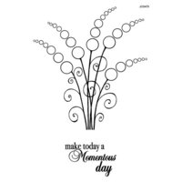 Creative Expressions - Woodware Clear Singles - Clear Photopolymer Stamps - Bubble Bloom Linda
