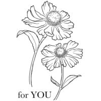 Creative Expressions - Woodware Clear Singles - Clear Photopolymer Stamps - Bold Blooms Erica