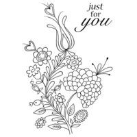 Creative Expressions - Woodware Clear Singles - Clear Photopolymer Stamps - Bold Blooms Charlotte