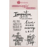 Creative Expressions - Woodware Clear Singles - Clear Photopolymer Stamps - Imagine Verse
