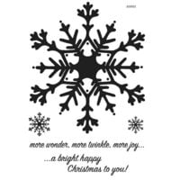 Creative Expressions - Woodware Clear Singles - Christmas - Clear Photopolymer Stamps - Huge Snowflake