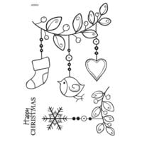 Creative Expressions - Woodware Clear Singles - Christmas - Clear Photopolymer Stamps - Little Festive Branch