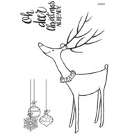 Creative Expressions - Woodware Clear Singles - Christmas - Clear Photopolymer Stamps - Reindeer Bells