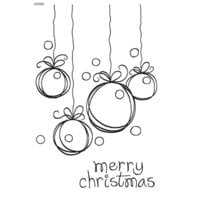 Creative Expressions - Woodware Clear Singles - Christmas - Clear Photopolymer Stamps - Sketchy Baubles