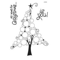 Creative Expressions - Woodware Clear Singles - Christmas - Clear Photopolymer Stamps - Bubble Christmas Tree