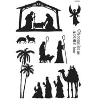 Creative Expressions - Woodware Clear Singles - Christmas - Clear Photopolymer Stamps - Nativity Silhouette