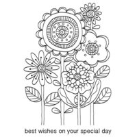Creative Expressions - Woodware Clear Singles - Clear Photopolymer Stamps - Big Bunch