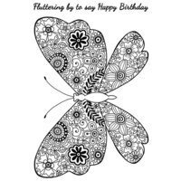 Creative Expressions - Woodware Clear Singles - Clear Photopolymer Stamps - Decorative Butterfly