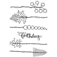Creative Expressions - Woodware Clear Singles - Clear Photopolymer Stamps - Countryside Stems