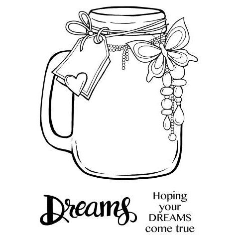 Creative Expressions - Woodware Clear Singles - Clear Photopolymer Stamps - Jar Of Dreams