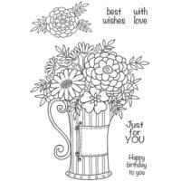 Creative Expressions - Woodware Clear Singles - Clear Photopolymer Stamps - Flowers In A Can