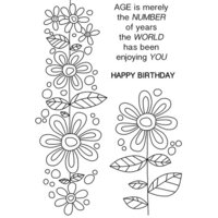 Creative Expressions - Woodware Clear Singles - Clear Photopolymer Stamps - Daisy Chain