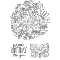 Creative Expressions - Woodware Clear Singles - Clear Photopolymer Stamps - Butterfly Posy