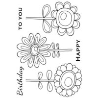 Creative Expressions - Woodware Clear Singles - Clear Photopolymer Stamps - Bold Blooms Daisy Bunch