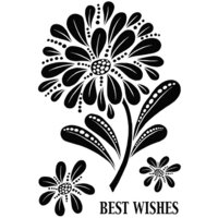 Creative Expressions - Woodware Clear Singles - Clear Photopolymer Stamps - Bold Blooms Helen