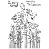 Creative Expressions - Woodware Clear Singles - Clear Photopolymer Stamps - Long Tall Sally Bunch