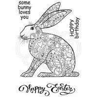 Creative Expressions - Woodware Clear Singles - Clear Photopolymer Stamps - Decorative Hare