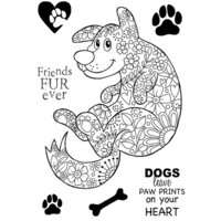 Creative Expressions - Woodware Clear Singles - Clear Photopolymer Stamps - Decorative Dog