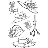Creative Expressions - Woodware Craft Collection - Clear Photopolymer Stamps - Four Hats