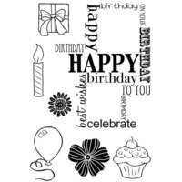 Creative Expressions - Woodware Clear Singles - Clear Photopolymer Stamps - Birthday Grid