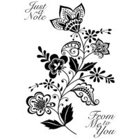 Creative Expressions - Woodware Clear Singles - Clear Photopolymer Stamps - Scandinavian Spray