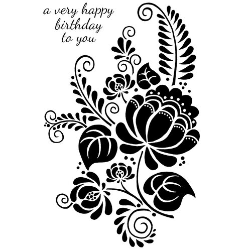 Creative Expressions - Woodware Clear Singles - Clear Photopolymer Stamps - Pomegranate