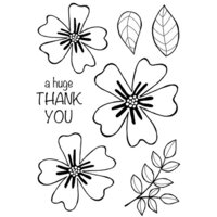 Creative Expressions - Woodware Clear Singles - Clear Photopolymer Stamps - Bold Blooms Amanda