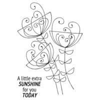 Creative Expressions - Woodware Clear Singles - Clear Photopolymer Stamps - Bold Blooms Ginny