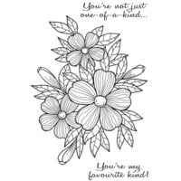 Creative Expressions - Woodware Clear Singles - Clear Photopolymer Stamps - Bold Blooms Fiona