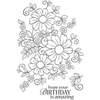 Creative Expressions - Woodware Clear Singles - Clear Photopolymer Stamps - Bold Blooms Caroline