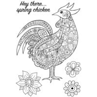 Creative Expressions - Woodware Clear Singles - Clear Photopolymer Stamps - Decorative Cockerel