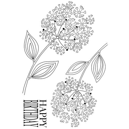 Creative Expressions - Woodware Clear Singles - Clear Photopolymer Stamps - Bold Blooms Nancy