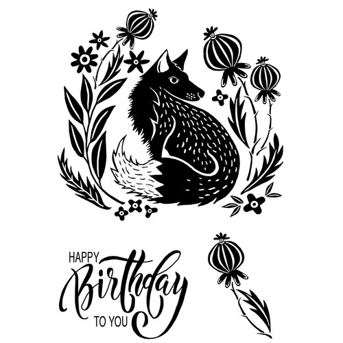 Creative Expressions - Woodware Clear Singles - Clear Photopolymer Stamps - Mr Foxy
