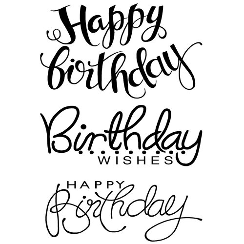 Creative Expressions - Woodware Clear Singles - Clear Photopolymer Stamps - Big Birthday Words