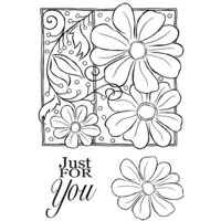 Creative Expressions - Woodware Clear Singles - Clear Photopolymer Stamps - Petals And Twirls