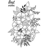 Creative Expressions - Woodware Craft Collection - Clear Photopolymer Stamps - Flower Garden