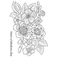 Creative Expressions - Woodware Clear Singles - Clear Photopolymer Stamps - Bold Blooms Isabella