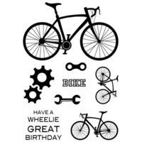 Creative Expressions - Woodware Clear Singles - Clear Photopolymer Stamps - On Your Bike