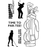 Creative Expressions - Woodware Clear Singles - Clear Photopolymer Stamps - Ready To Tee Off