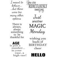 Creative Expressions - Woodware Clear Singles - Clear Photopolymer Stamps - I Meant To